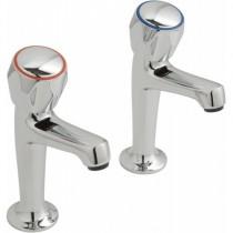 High Neck Sink Pillars Chrome