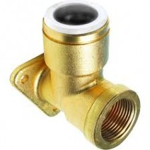 Brass Back Plate Elbow SHORT VERSION
