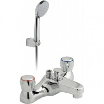 Bath Shower Mixer Deck Mounted c/w Shower Kit