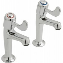 "Lever Action High Neck Sink Pillars 1/2"" Pair"