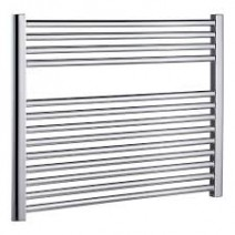 SHS Flat Horizontal Heated Towel Rail Chrome